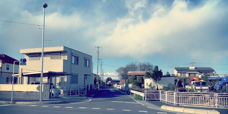 熊谷西高校からJR籠原駅への通学路