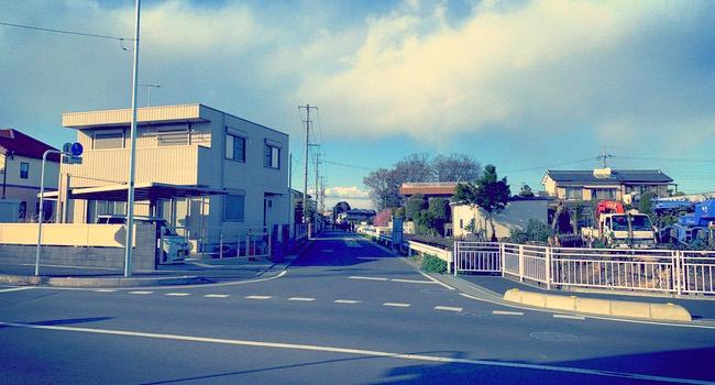 籠原駅から熊谷西高校への通学路